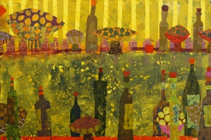 I Only Drink Wine 2012, Acrylic 120 x 80, sold