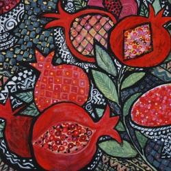 Pomegranates 2007, Acrylic