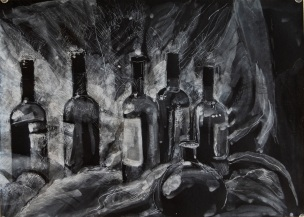 Ink drawing by Chanan Mazal חנן מזל