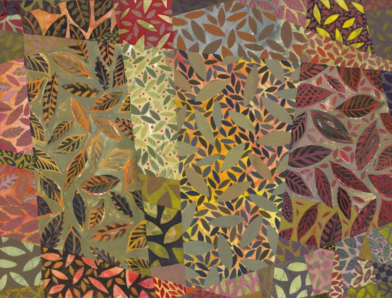 Tablecloth #7, Gouache painting by Chanan Mazal, חנן מזל
