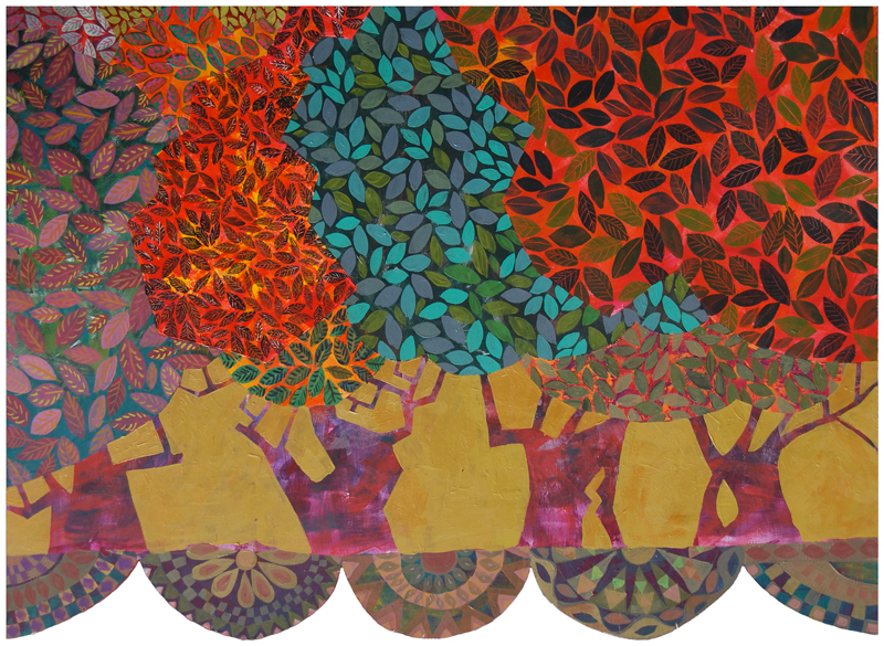 Portable Olive Orchard, painting by Chanan Mazal 2013