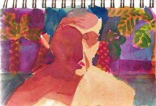 Self Portrait, 2013 gouache - Chanan Mazal