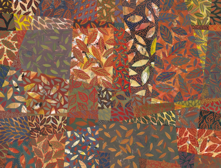 Tablecloth #6, 2014. Gouache painting by Chanan Mazal, Jerusalem.  חנן מזל