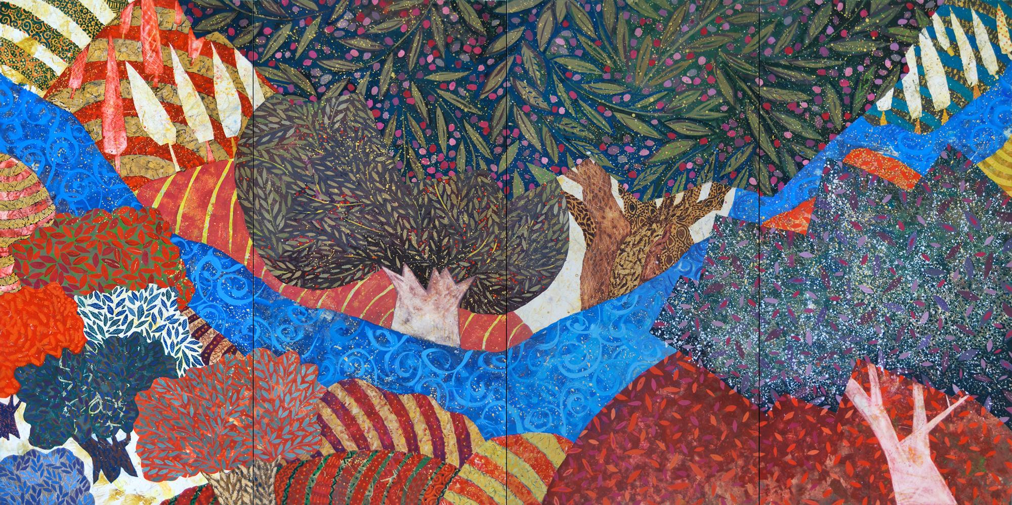 Planted by Waters 2016 by Chanan Mazal' שתול על מיד, ציור של חנן מזל