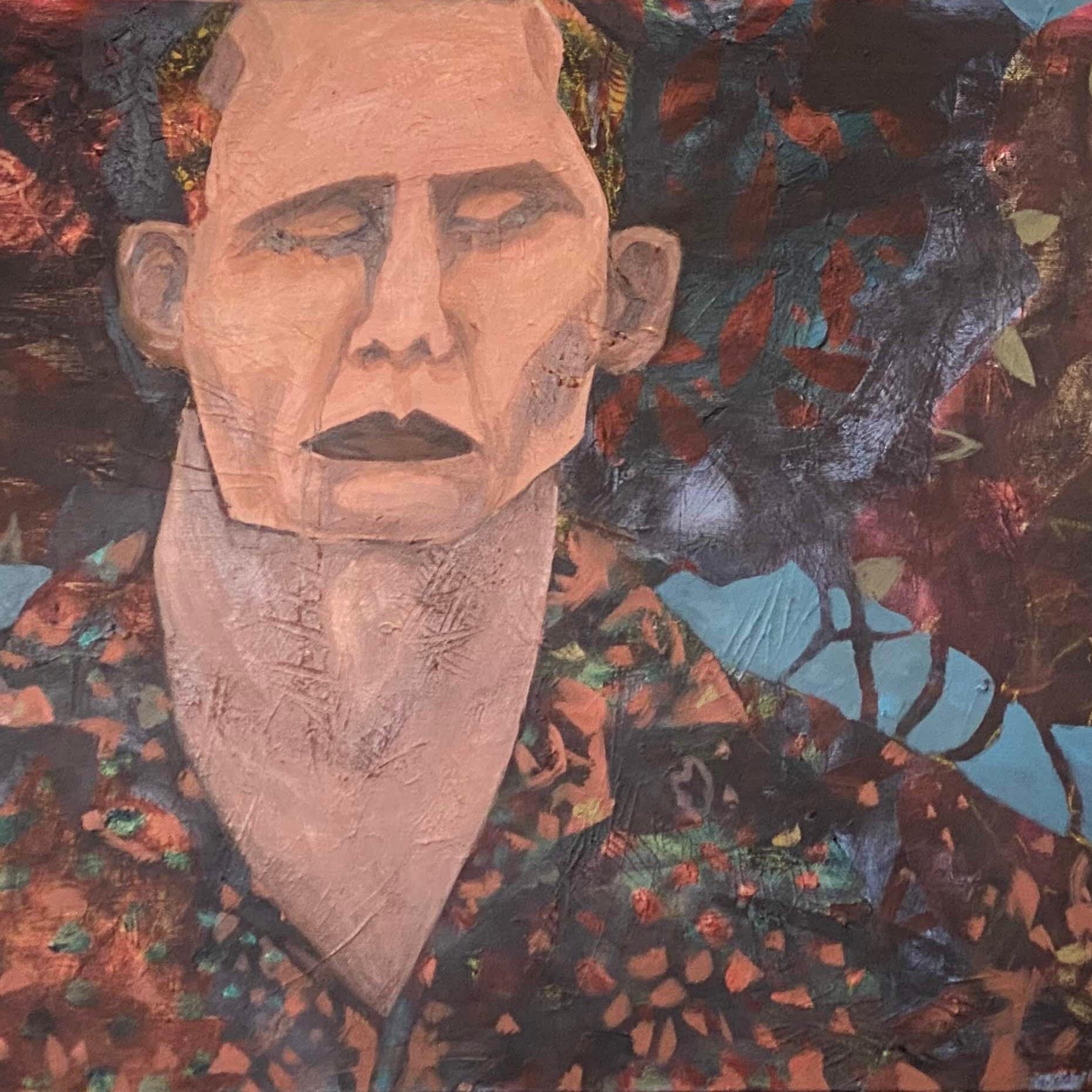 גבורת האיש השקוף 2020. שמן ואקרילי על בד 50 / 100 ס״מ The Heroics of the Invisible Man. 2020. Oil and acrylic on canvas 50 x 100 cm